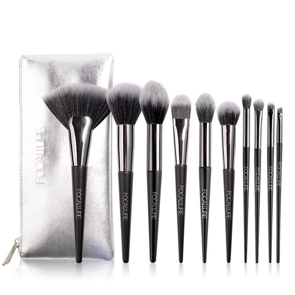10 Professional Makeup Brushes + Bag