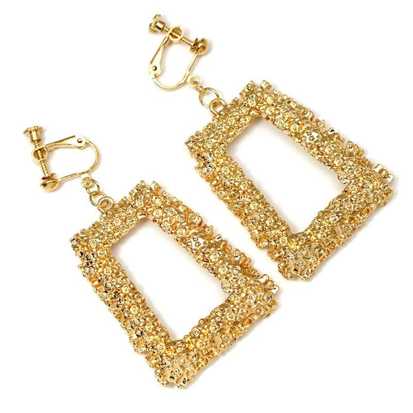 Clip Earrings Drag Reich (Golden or Silvery)