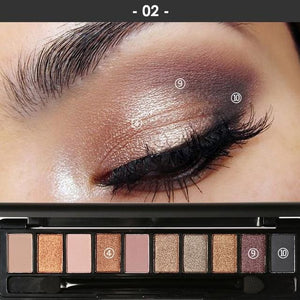 Professional Makeup Palette - Perfect Smokey Eyes (4 Variants) 2 Eyeshadow Palette