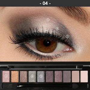 Professional Makeup Palette - Perfect Smokey Eyes (4 Variants) 4 Eyeshadow Palette