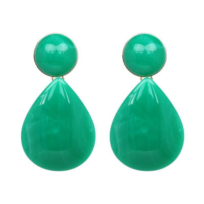 Stud Earrings Drag Aquamarine (Multiple Colors) green Earrings