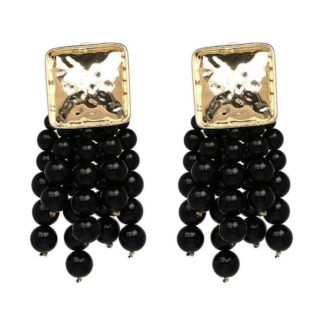 Stud Earrings Drag Cereza (6 Colors) Black Earrings