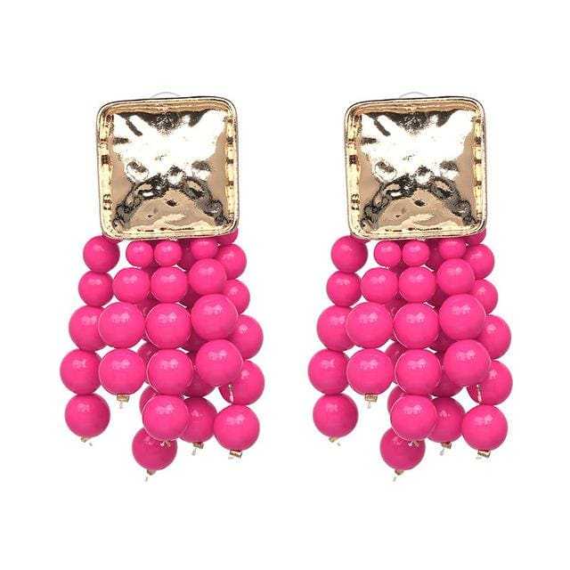 Stud Earrings Drag Cereza (6 Colors) Pink Earrings