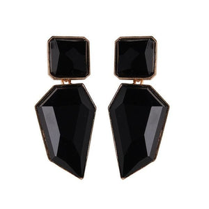 Stud Earrings Drag Guanzu (8 Colors) Black Earrings