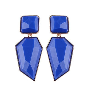 Stud Earrings Drag Guanzu (8 Colors) Blue Earrings