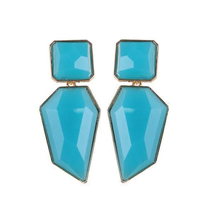 Stud Earrings Drag Guanzu (8 Colors) Light Blue Earrings