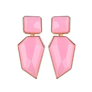 Stud Earrings Drag Guanzu (8 Colors) Pink Earrings