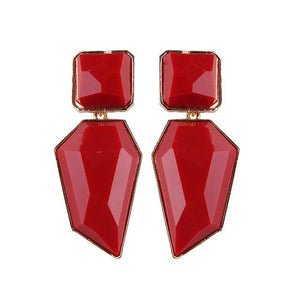 Stud Earrings Drag Guanzu (8 Colors) Red Earrings