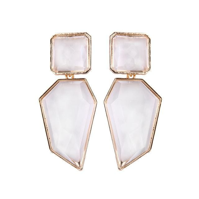 Stud Earrings Drag Guanzu (8 Colors) White Earrings