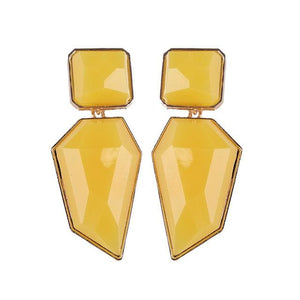 Stud Earrings Drag Guanzu (8 Colors) Yellow Earrings