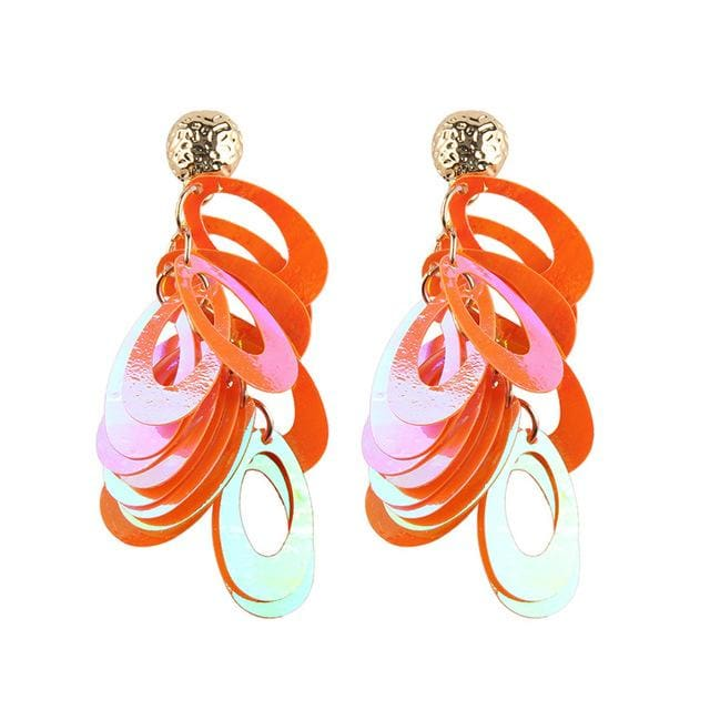 Stud Earrings Drag Hulla (8 Colors) Orange Earrings