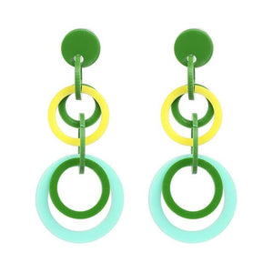 Stud Earrings Drag Liliput (6 Colors) Green Earrings