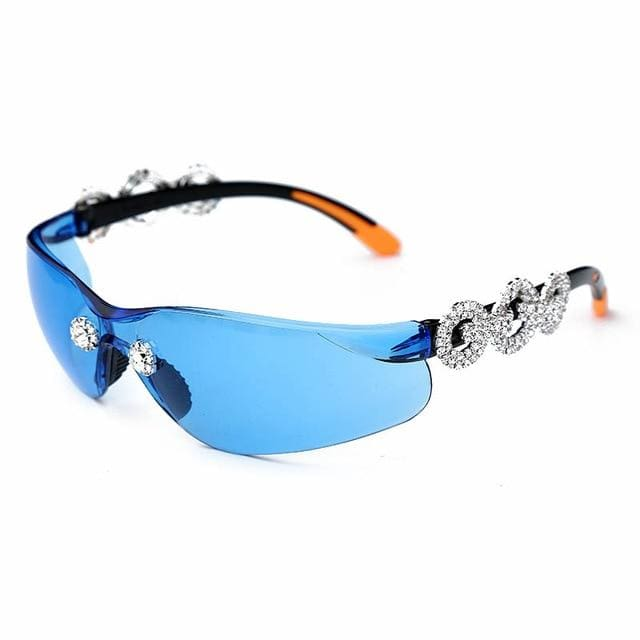 Sunglasses Drag Minj (3 colors) Blue Sunglasses