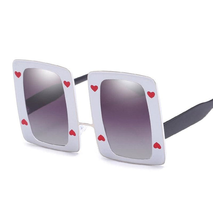 Sunglasses Drag Pollyfilla (5 variants) Purple (White frame) Sunglasses