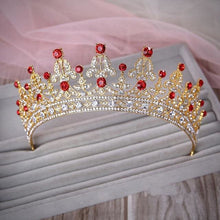 Load image into Gallery viewer, Tiara Queen Elizabeth (2 Colors) Gold and red Tiara