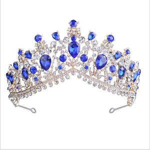 Tiara Queen Megara (6 Colors) Blue Tiara