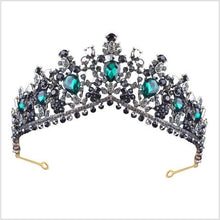 Load image into Gallery viewer, Tiara Queen Megara (6 Colors) Dark Green Tiara