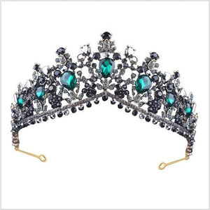 Tiara Queen Megara (6 Colors) Dark Green Tiara
