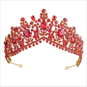 Tiara Queen Megara (6 Colors) Red Tiara