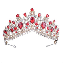 Load image into Gallery viewer, Tiara Queen Megara (6 Colors) Silver and red Tiara
