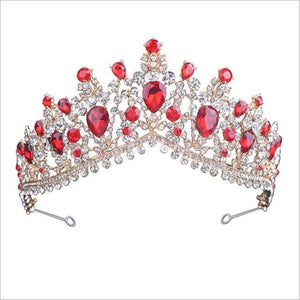 Tiara Queen Megara (6 Colors) Silver and red Tiara