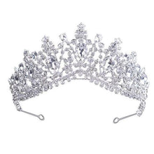 Load image into Gallery viewer, Tiara Queen Megara (6 Colors) Silver Tiara