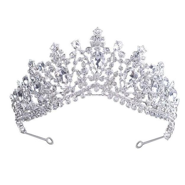 Tiara Queen Megara (6 Colors) Silver Tiara