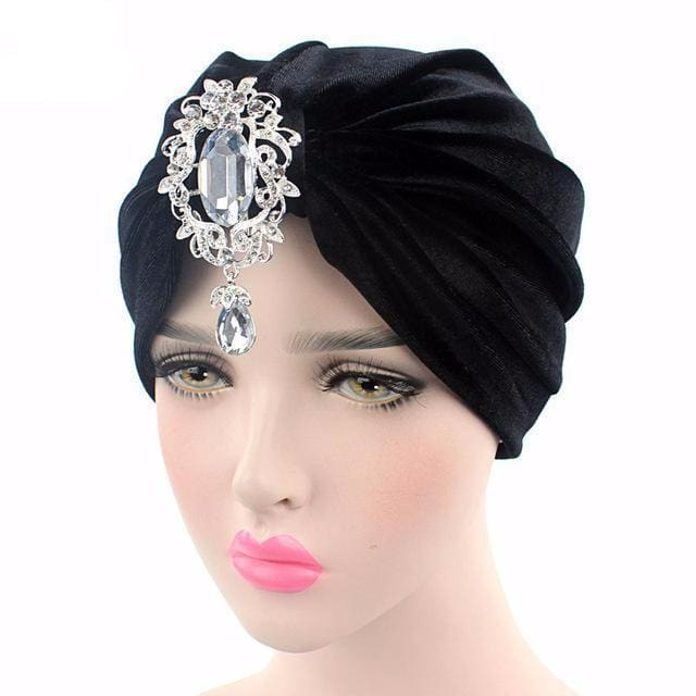Turban Drag Knowles (Multiple Colors) Black Turban