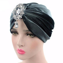 Load image into Gallery viewer, Turban Drag Knowles (Multiple Colors) Gray Turban