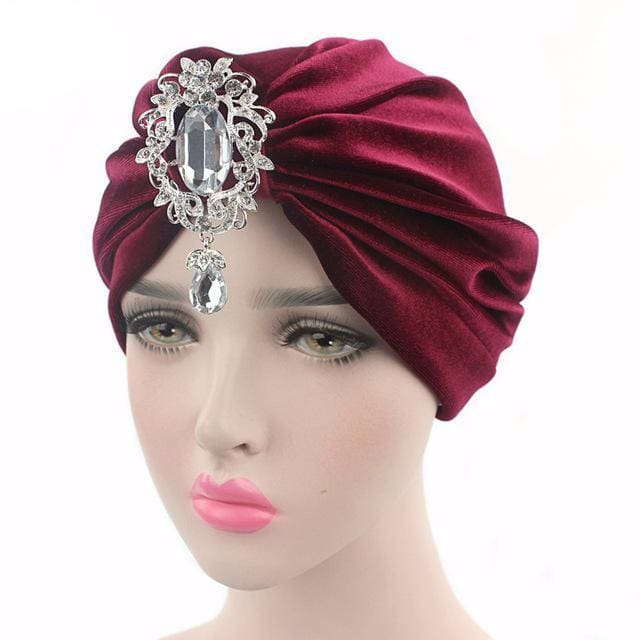 Turban Drag Knowles (Multiple Colors) Wine Turban