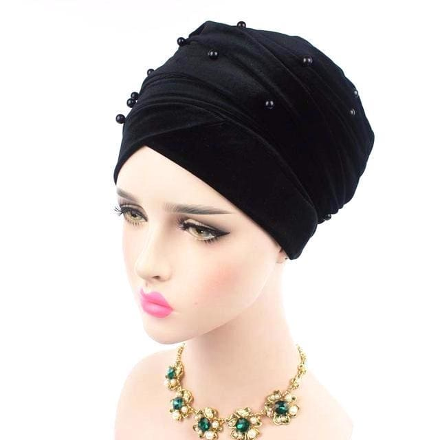 Turban Drag Salazar (Multiple Colors) Black Turban
