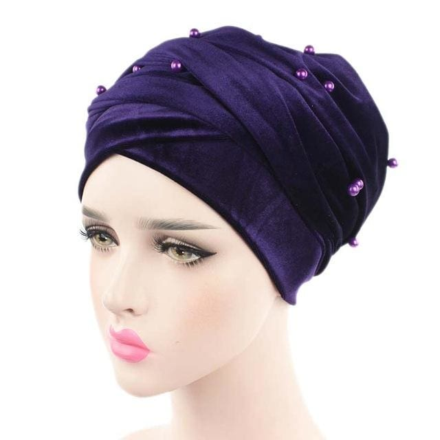 Turban Drag Salazar (Multiple Colors) Dark Purple Turban