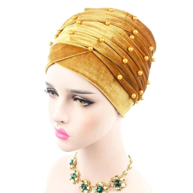 Turban Drag Salazar (Multiple Colors) Gold Turban