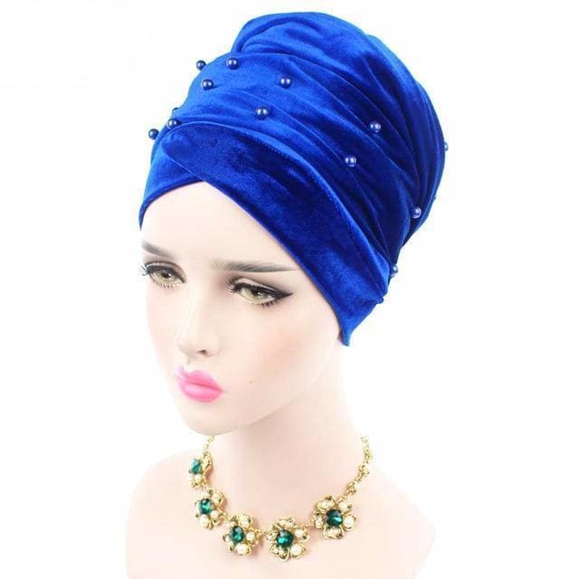Turban Drag Salazar (Multiple Colors) Royal Blue Turban