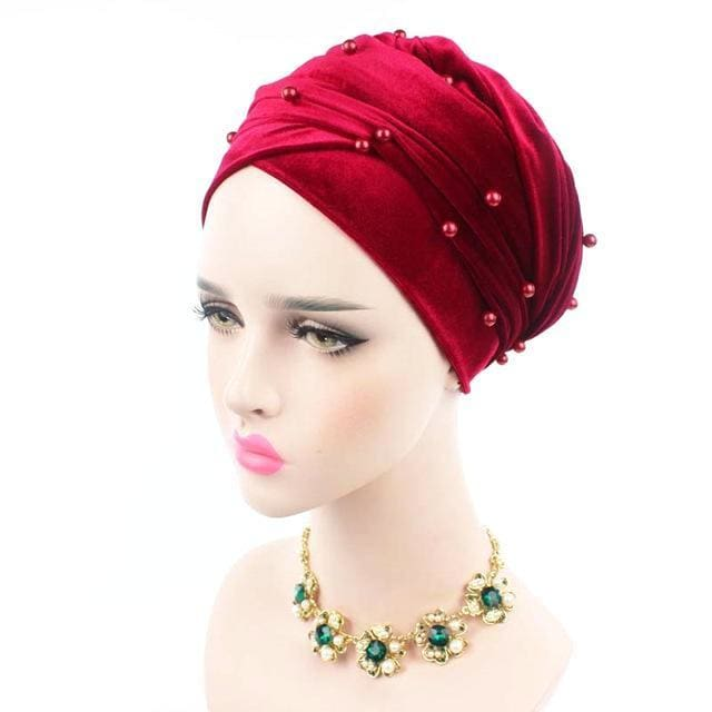 Turban Drag Salazar (Multiple Colors) Wine Turban