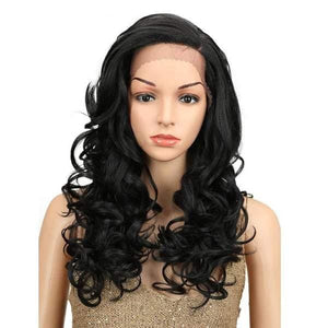 Wig Queen Crest (3 Colors) Black Wig