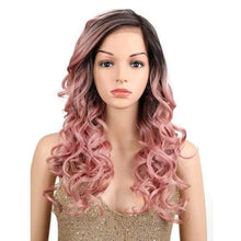 Load image into Gallery viewer, Wig Queen Crest (3 Colors) Pink Wig