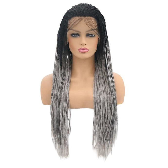 Wig Queen Matriuska (3 Variants) Black and Gray / 24 Inches Wig