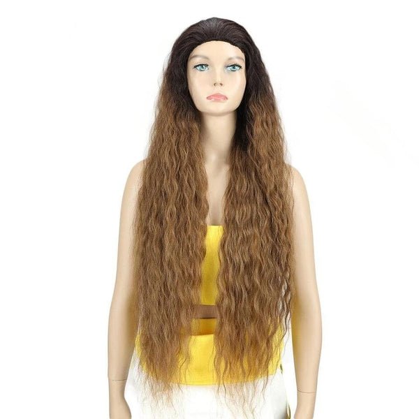 Wig Queen Nadira (Dark Blonde or Dark Brown) Dark Blonde / 36inches Wig