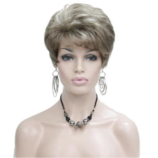 Wig Queen Taylor (4 Colors) Blonde with Highlights / 6 inches Wig