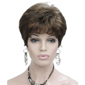 Wig Queen Taylor (4 Colors) Brown with Highlights / 6 inches Wig