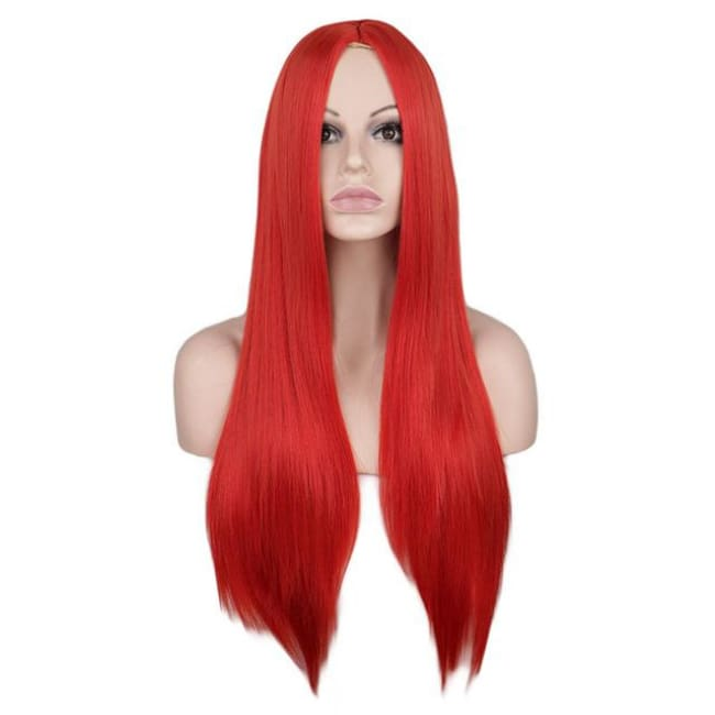Wig Queen Wiebke (6 Colors) Red / 26 inches Wig