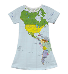 The World Map Americas Shift Dress