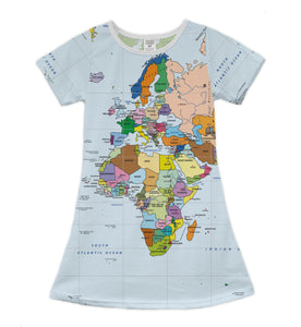 The World Map Africa Shift Dress