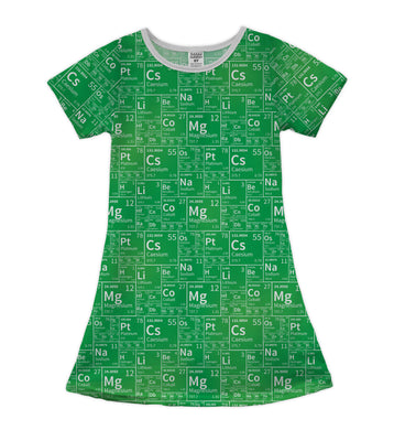 Green Elements Shift Dress