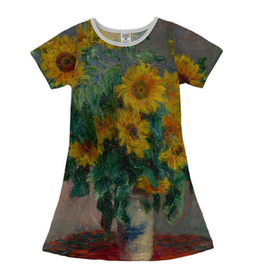 Van Gogh 'Sunflowers' Shift Dress