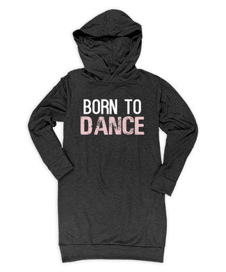 'Born To Dance' Hoodie Dress