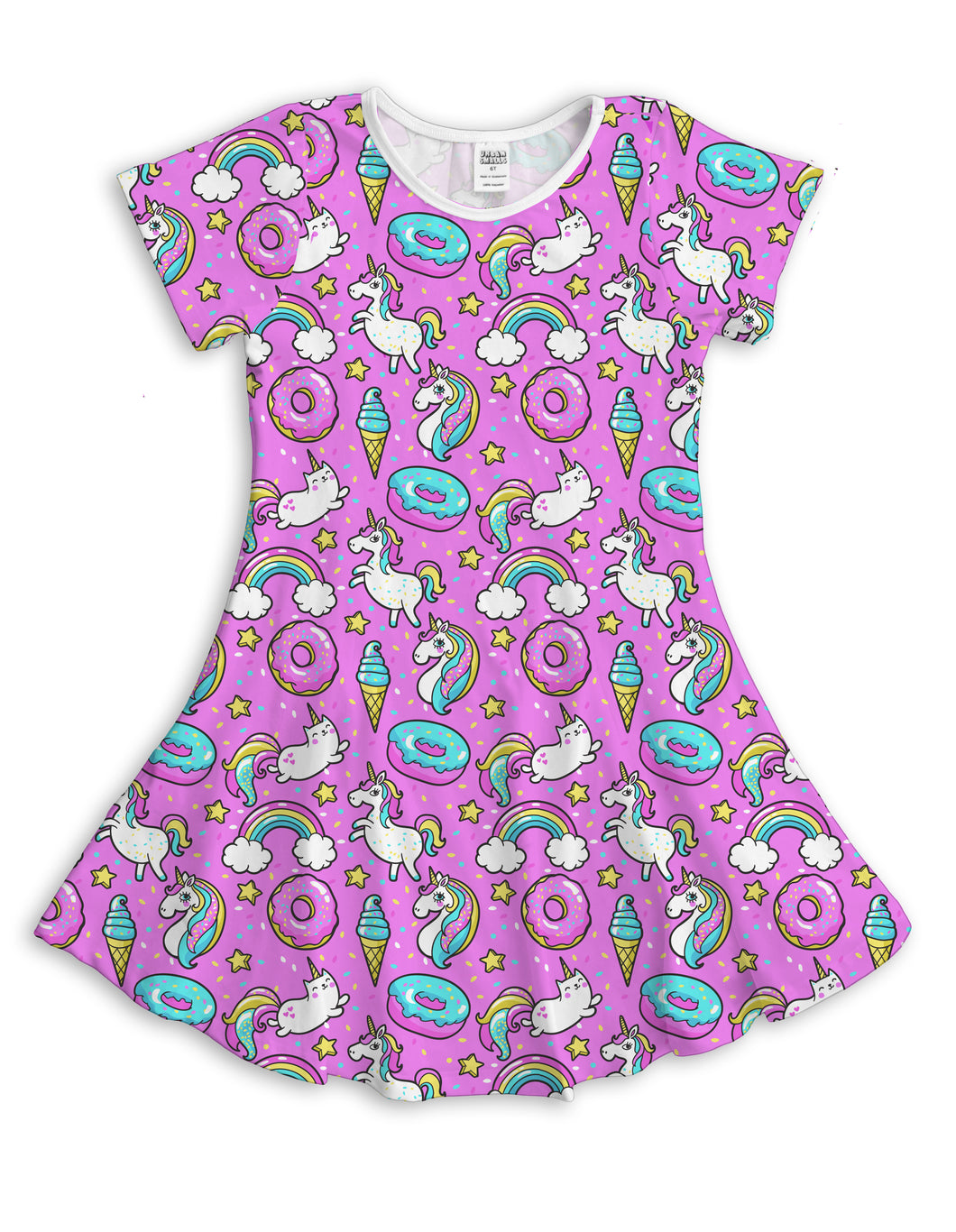 Purple Unicorn Party Sublimated Fit & Flare Dress
