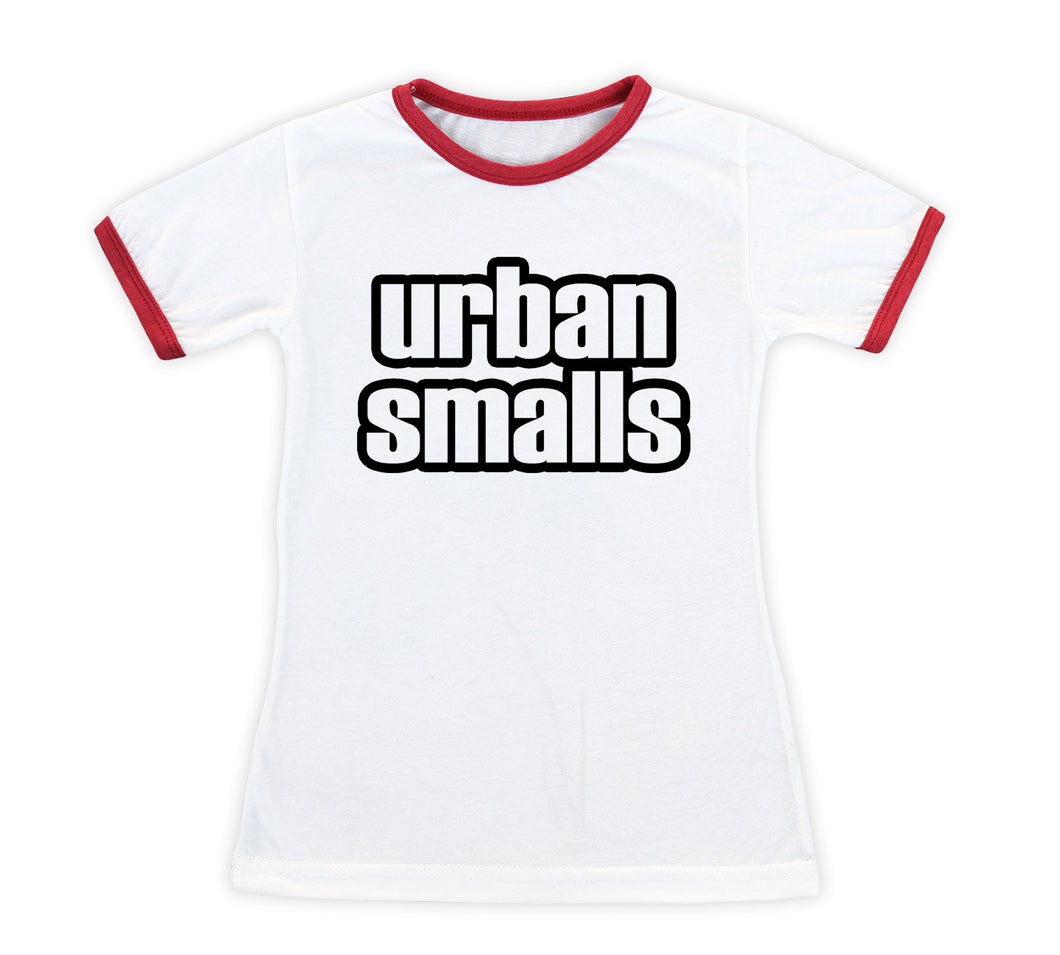 Classic Logo 'Urban Smalls' Fitted Ringer Tee