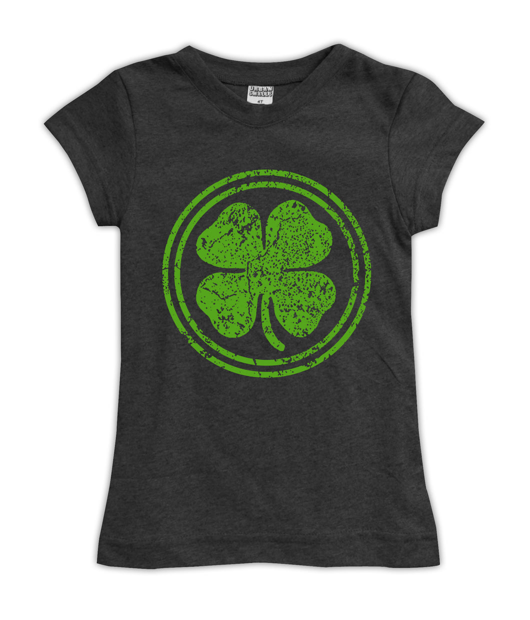 Charcoal Weathered Shamrock Fitted Tee